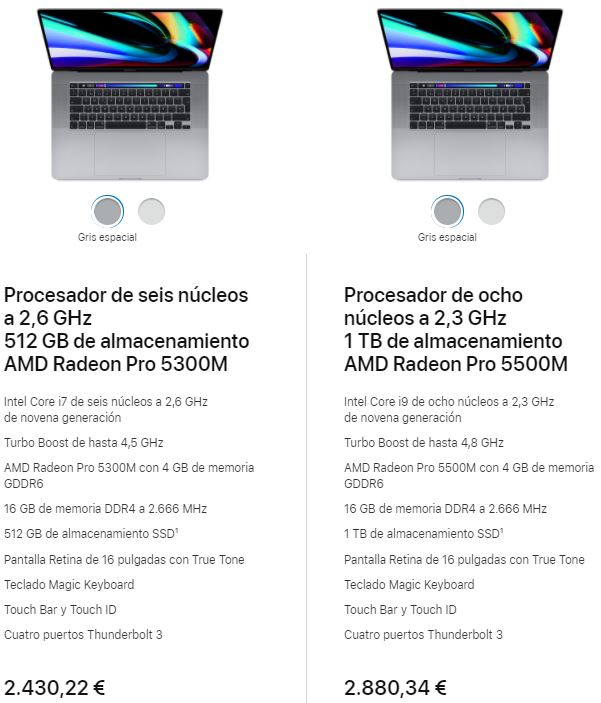 apple macbookpro 16 pulgadas estudiantes